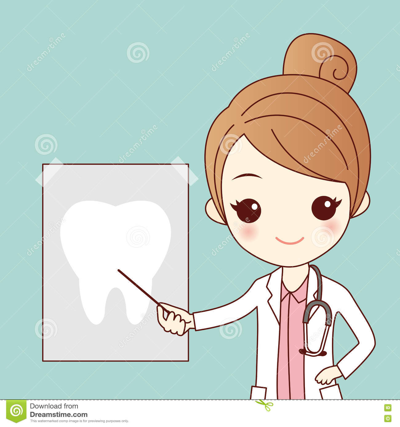 cartoon dentist tooth ray cute doctor great health dental care concept 77895785